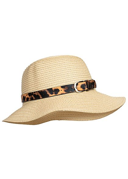 Hailys Damen Basket Hat Leo Belt beige