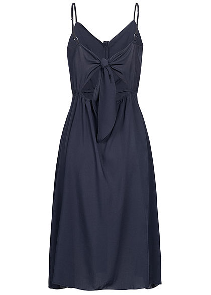 Hailys Damen Strap Dress Buttons Front navy blau