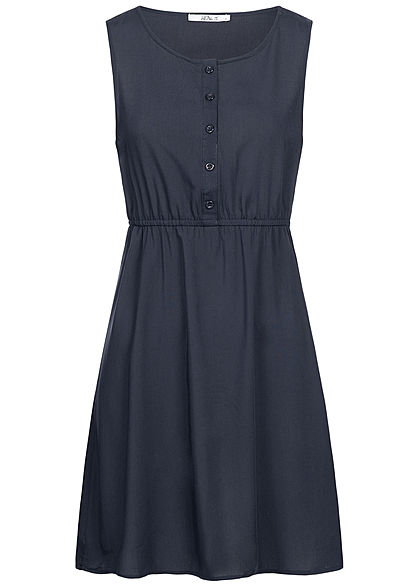 Hailys Damen Mini Dress Buttons Front navy blau