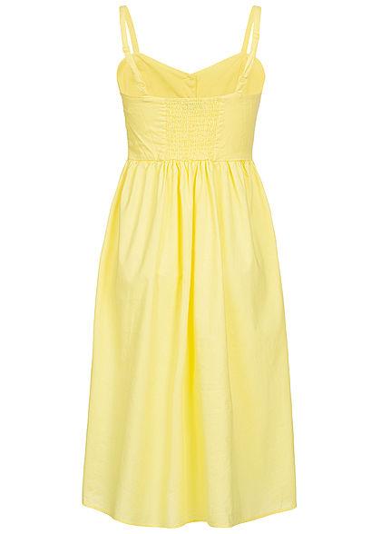 Hailys Damen Strap Dress Buttons Front gelb
