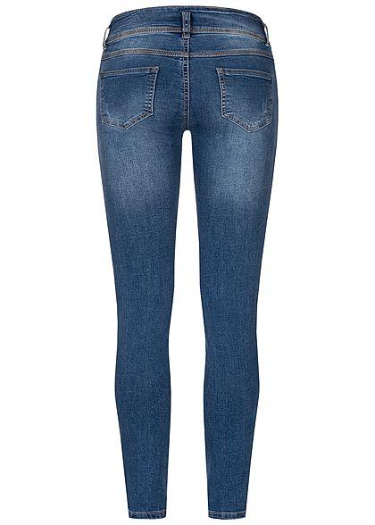 Seventyseven Lifestyle Damen Skinny Jeans 5-Pockets Regular Waist dunkel blau den