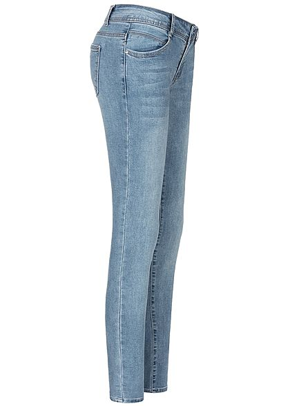Seventyseven Lifestyle Damen Skinny Jeans 5-Pockets Regular Waist medium blau den