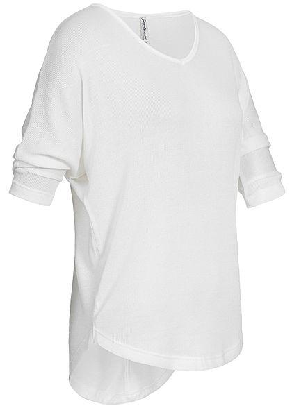 Seventyseven Lifestyle Damen 3/4 Arm Shirt off weiss