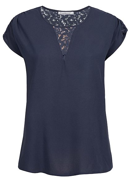 Seventyseven Lifestyle Damen Shirt Lace Detail navy blau