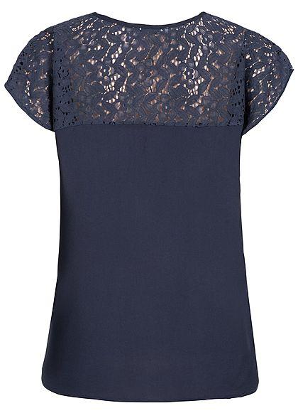 Seventyseven Lifestyle Damen Shirt Lace Detail navy blau