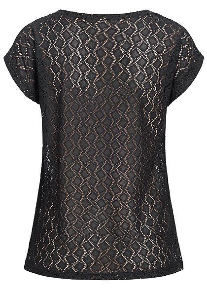Seventyseven Lifestyle Damen T-Shirt Cut Out schwarz