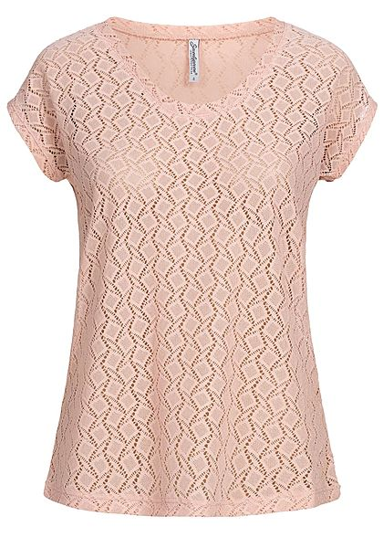 Seventyseven Lifestyle Damen T-Shirt Cut Out rosa