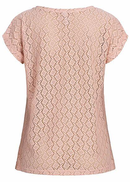 Seventyseven Lifestyle Damen T-Shirt Cut Out rosa