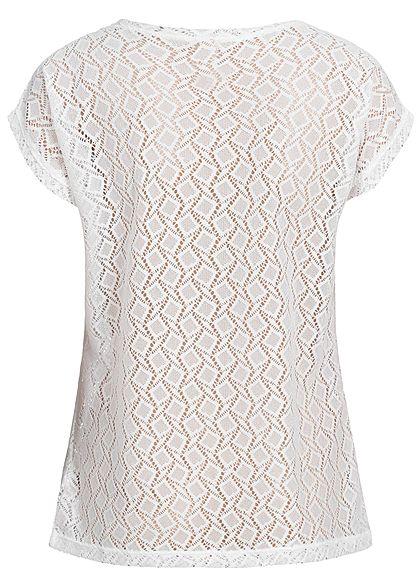 Seventyseven Lifestyle Damen T-Shirt Cut Out off weiss