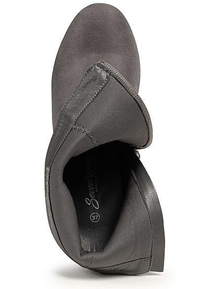Seventyseven Lifestyle Damen Block Heel Boots dunkel grau