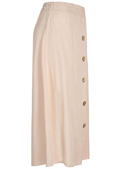 Hailys Damen Midi Skirt Buttons Front beige rosa