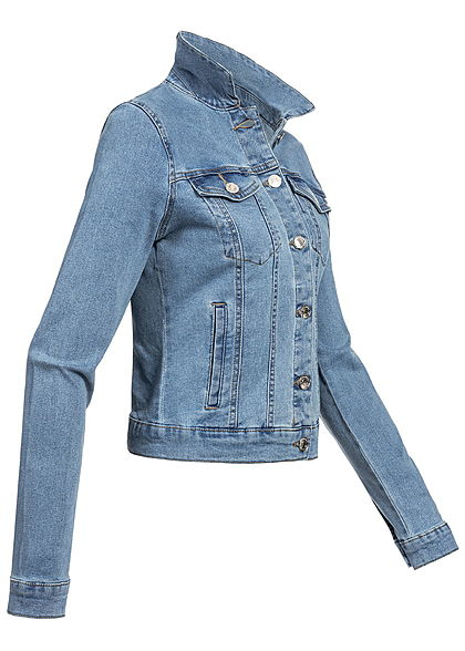 Vero Moda Damen Jeans Jacket 2 Breast Pockets NOOS hell blau denim