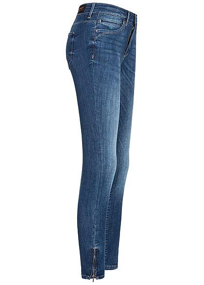 ONLY Damen Ankle Skinny Jeans 5-Pockets Regular Waist NOOS medium blau denim