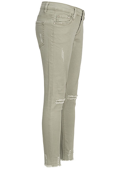 Hailys Kids Mädchen Jeans Destroy Look 5-Pockets Regular Waist khaki denim