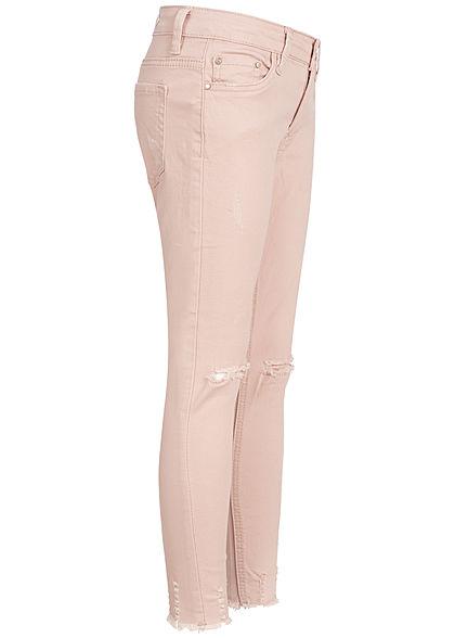 Hailys Kids Mädchen Jeans Destroy Look 5-Pockets Regular Waist rosa denim