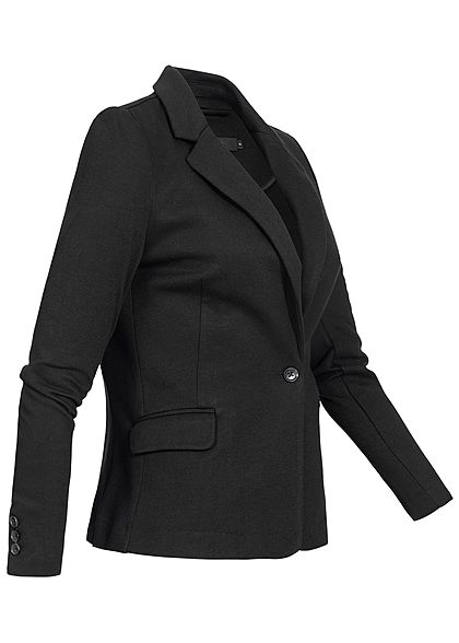 Vero Moda Damen NOOS V-Neck Jersey Blazer 2-Pockets Regular Fit schwarz
