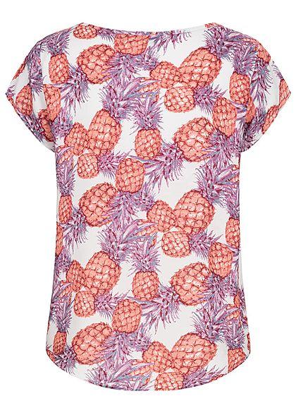 Eight2Nine Damen Blouse Shirt Pineapple Print lila