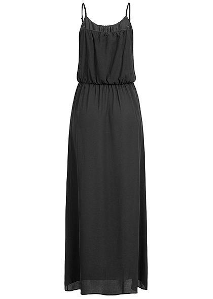 ONLY Damen NOOS Maxi Kleid Taillengummizug schwarz