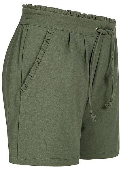 JDY by ONLY Damen Jersey Shorts 2-Pockets NOOS thyme olive grün