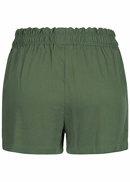 JDY by ONLY Damen Loose Fit Shorts 2-Pockets thyme grün