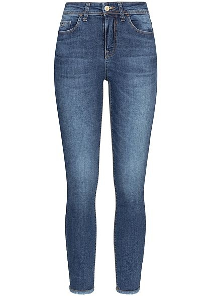 JDY by ONLY Damen Ankle Skinny Jeans 5-Pockets High-Waist medium blau denim