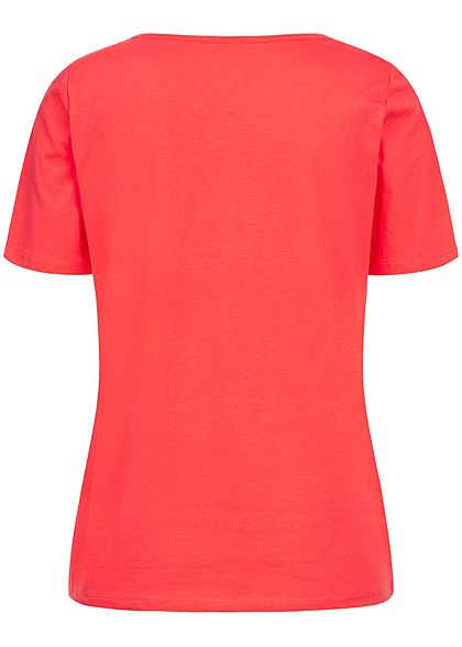 JDY by ONLY Damen T-Shirt Cherry Patch cayenne rot