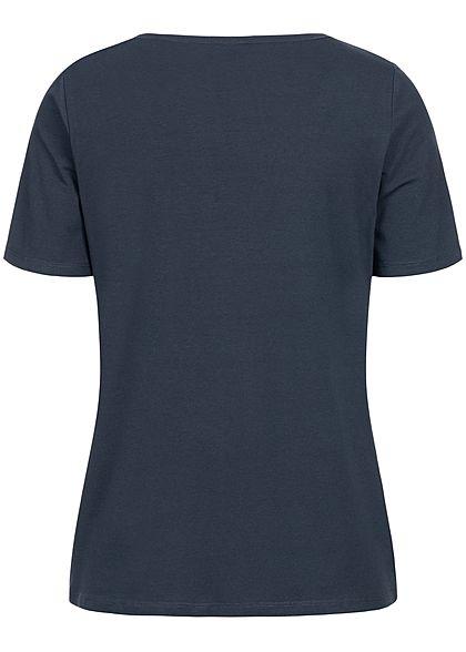 JDY by ONLY Damen T-Shirt Pineapple Patch sky capt. blau