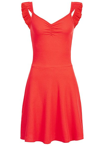 ONLY Damen Ribbed Ballerina Dress bittersweet rot