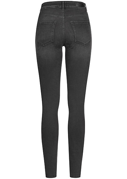ONLY Damen Ankle Skinny Jeans 5-Pockets High Waist schwarz denim