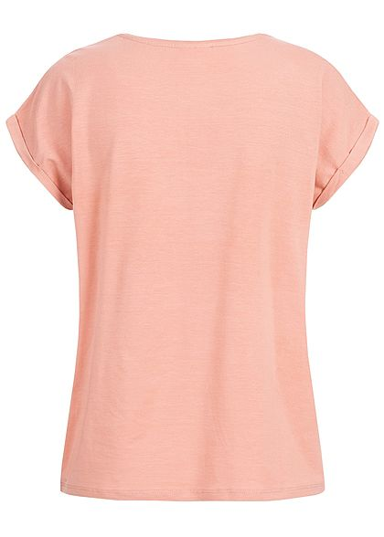 Vero Moda Damen Oversized T-Shirt NOOS misty rosa