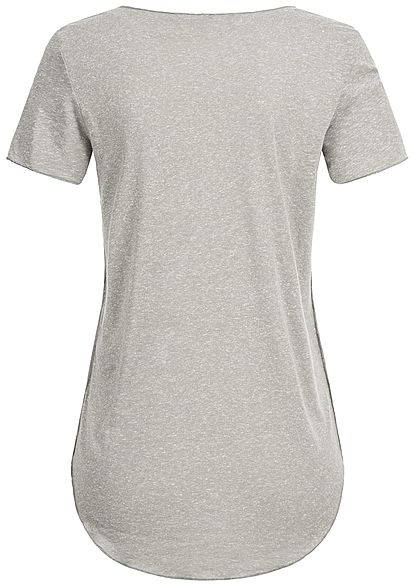 Vero Moda Damen Asymmetric T-Shirt hell grau melange