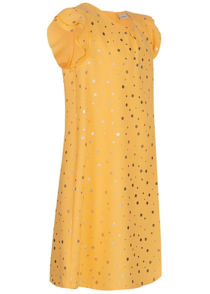 Name It Kids Mädchen Dress Points Print pale mariegold gelb gold