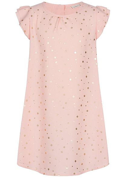 Name It Kids Mädchen Dress Points Print strawberry cream rosa gold