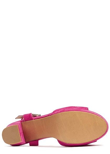 Seventyseven Lifestyle Damen Block Heel Sandals fuchsia pink
