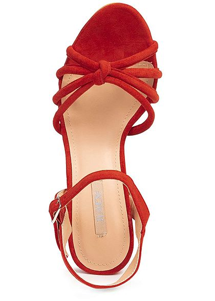 Seventyseven Lifestyle Damen Strap Plateau Sandals rot