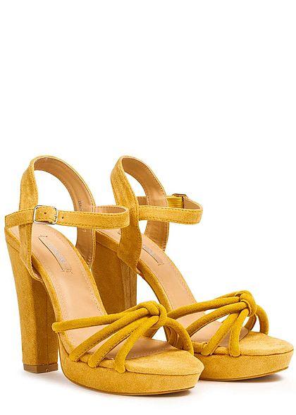 Seventyseven Lifestyle Damen Strap Plateau Sandals gelb