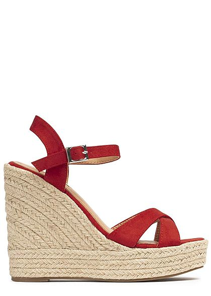 Seventyseven Lifestyle Damen Wedges Sandals rot