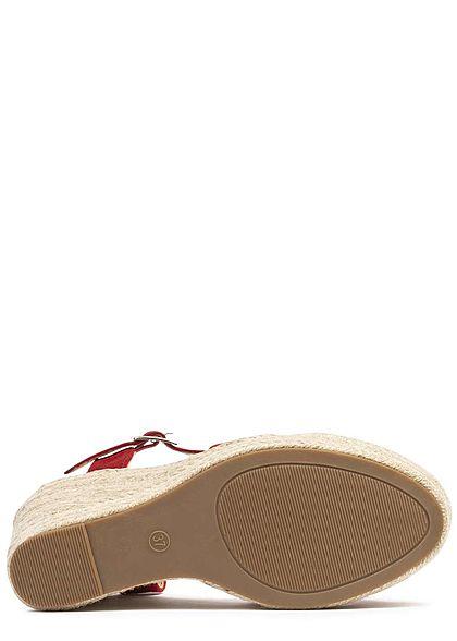 Seventyseven Lifestyle Damen Wedges Sandals rot
