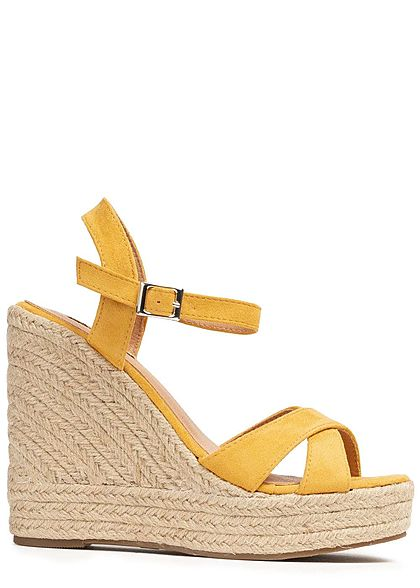 Seventyseven Lifestyle Damen Wedges Sandals gelb