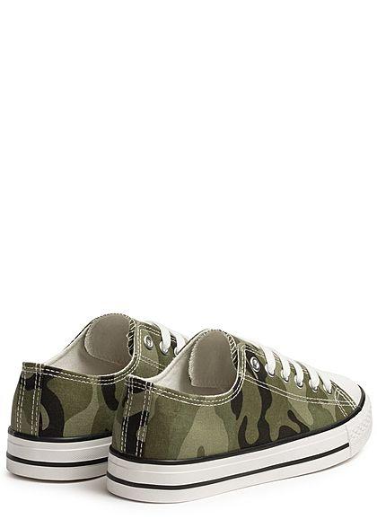 Seventyseven Lifestyle Damen Schuh Canvas-Sneaker camouflage
