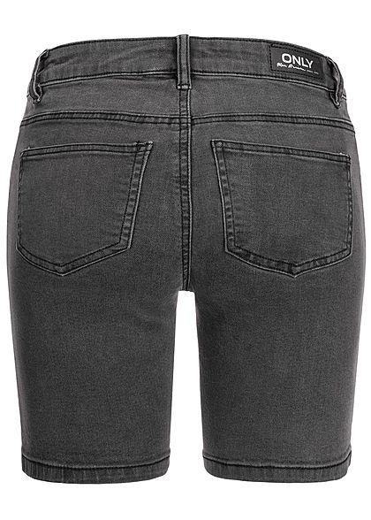 ONLY Damen Denim Bermuda Shorts 5-Pockets Regular Waist schwarz denim