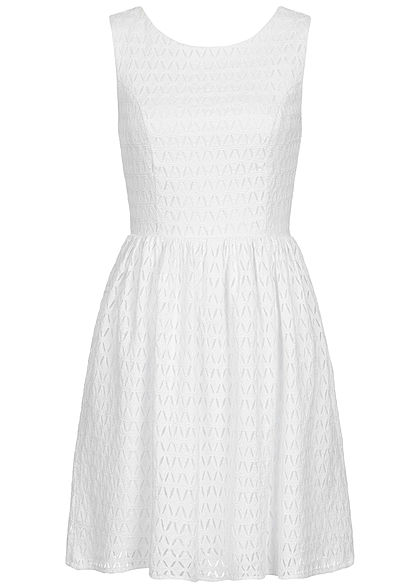 ONLY Damen 2-Layer Dress cloud dancer weiss