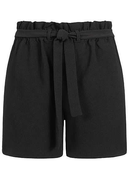 ONLY Damen Paper-Bag Shorts Belt NOOS schwarz