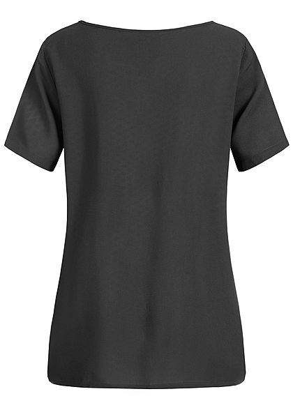 JDY by ONLY Damen Solid Blouse Shirt schwarz