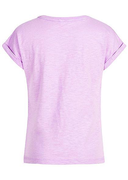 Name It Kids Mädchen T-Shirt Minnie Mouse Print Flamingo Sequins lavendula lila