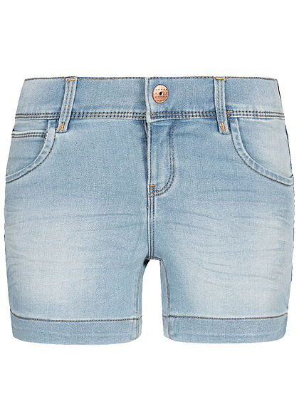 Name It Kids Mädchen Denim Shorts 5-Pockets hell blau denim