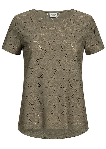 JDY by ONLY Damen T-Shirt Cut Out NOOS kalamata olive grün