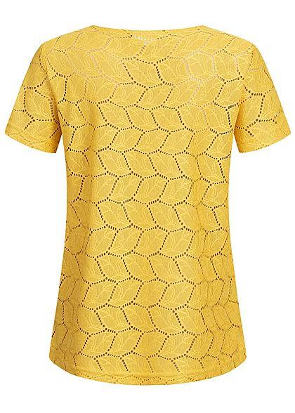 JDY by ONLY Damen T-Shirt Cut Out NOOS mustard gelb