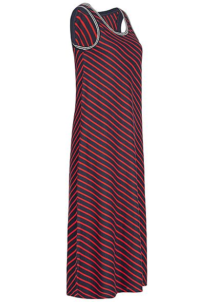 ONLY Damen Striped Midi Dress night sky blau high risk rot