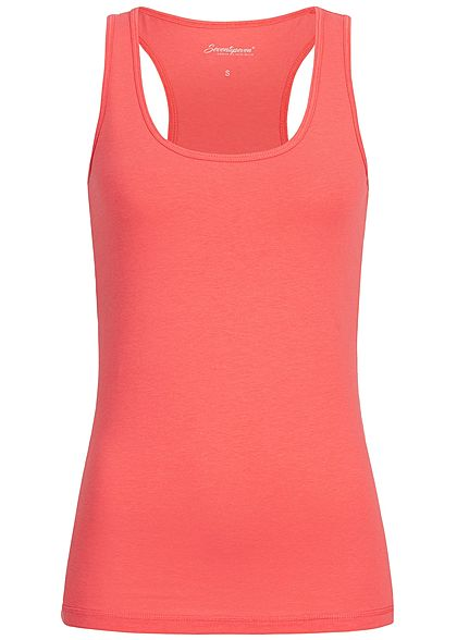 Seventyseven Lifestyle Damen Basic Tank Top corall pink